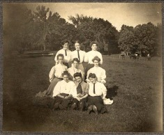 Group of women at a park (Shakopee?) c1910